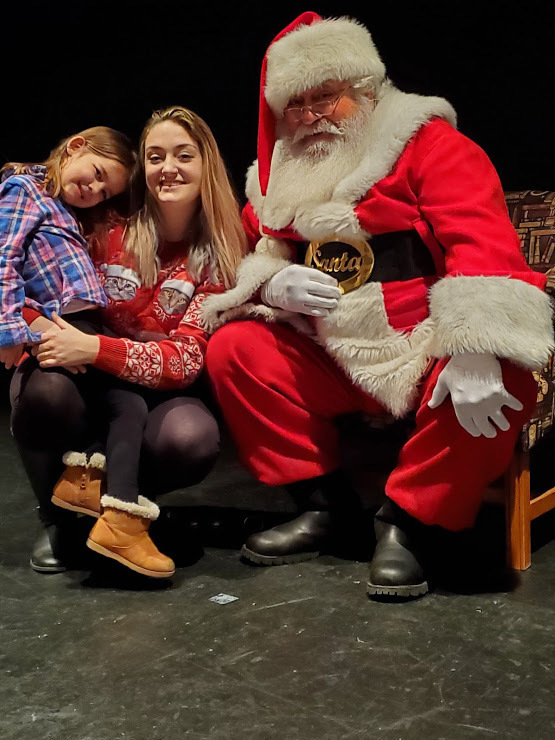 Alexis and paisley wanted a picture together with Santa!